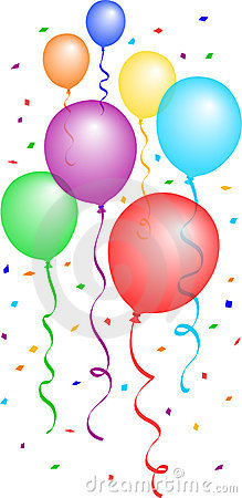 Free Balloons And Confetti 2/eps Royalty Free Stock Image - 1120616