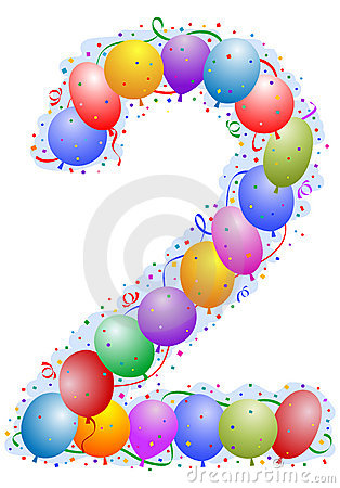 Free Balloons And Confetti Number 2 Stock Images - 4771364