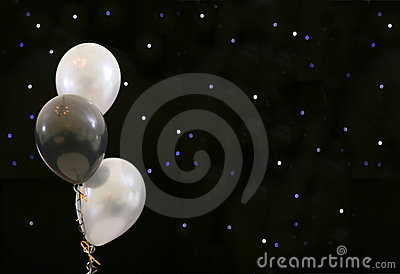 Balloons black party
