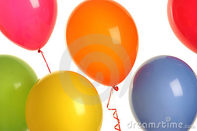 Balloons on blue