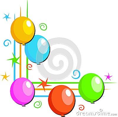 Free Balloons Border Royalty Free Stock Photography - 45847