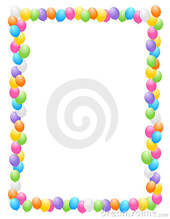 Balloons Border / Frame Royalty Free Stock Images - Image ...
