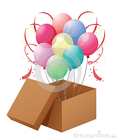 Balloons in the box