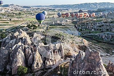 Balloons in Cappadocia Editorial Photography