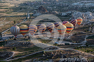 Balloons in Cappadocia Editorial Photography