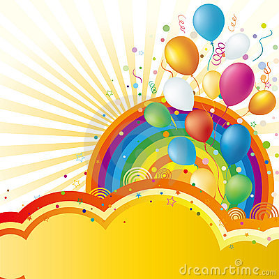 balloons and celebration