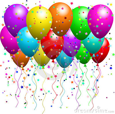 Balloons And Confetti Stock Images - Image: 8068194
