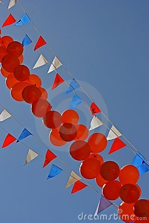 Balloons and flags