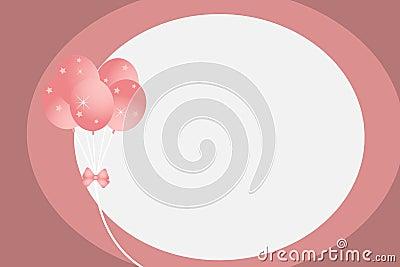 Balloons frame - vector