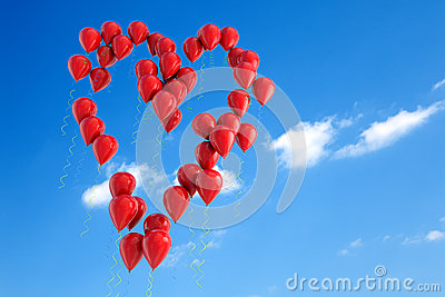 Balloons heart shape