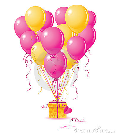 Free Balloons Heart With Gift Royalty Free Stock Photography - 7723147