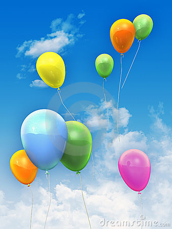 Free Balloons In The Sky Royalty Free Stock Photo - 12240615