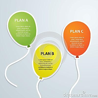 Balloons infographics timeline label vector illustration Vector Illustration