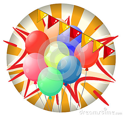 Balloons inside the spinning wheel
