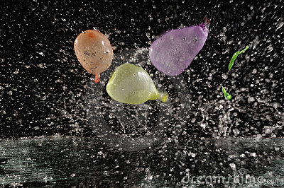 balloons in motion
