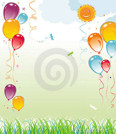 Free Balloons Natural Composition Stock Photography - 4545952