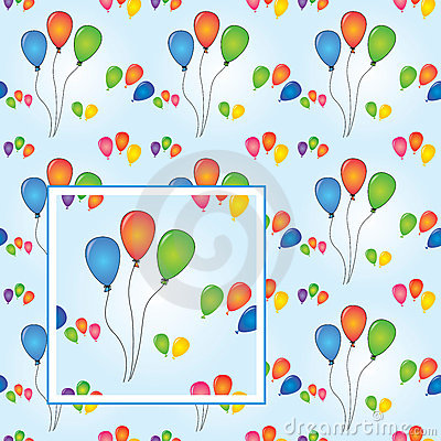 Balloons party seamless vector