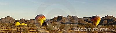 Balloons preparing to lift off in Arizona Editorial Stock Image