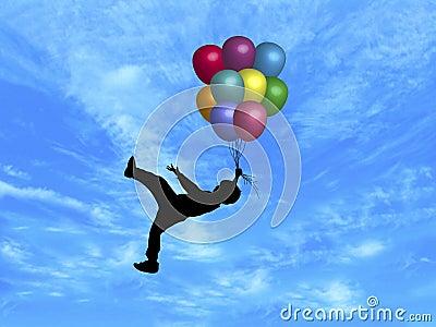 Balloons in Sky 5