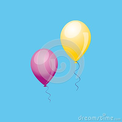Balloon. Realistic vector 3D illustration. Vector Illustration