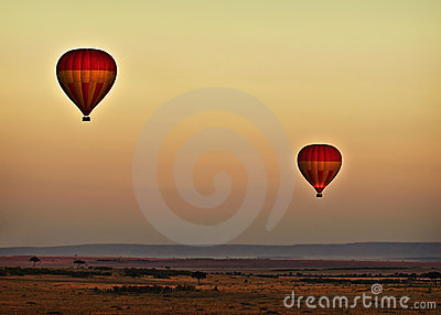 Balloons at Sunrise, Kenya