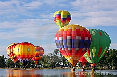 Balloons on the water