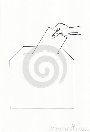 Ballot box and envelope