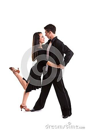 Ballroom Dancers Black 08