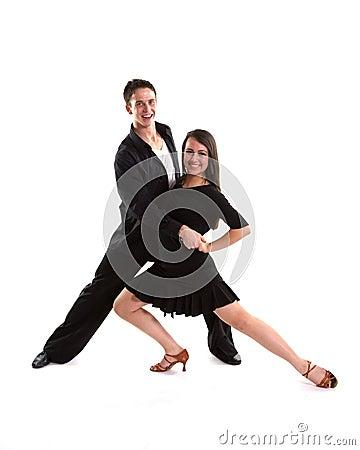 Free Ballroom Dancers Black 11 Stock Photography - 14005372