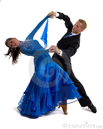 Free Ballroom Dancers Blue 01 Royalty Free Stock Photos - 14005148