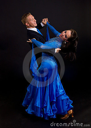 Free Ballroom Dancers Blue 12 Stock Photo - 14005250