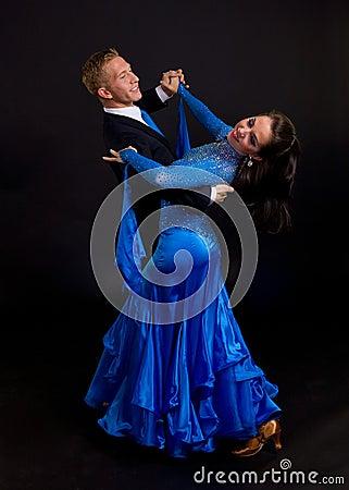 Ballroom Dancers Blue 12