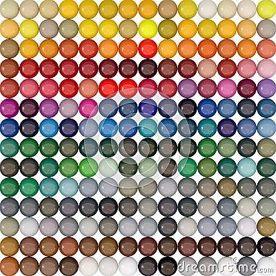 Balls-colors under catalogue RAL