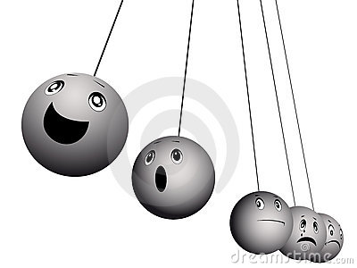 Balls expressing emotions