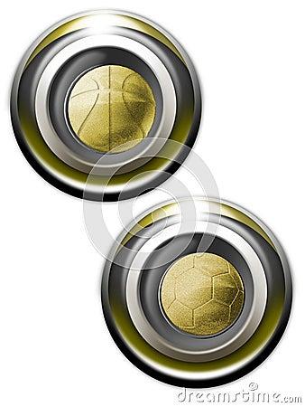 Free Balls Golden Iconset Royalty Free Stock Photography - 1246317