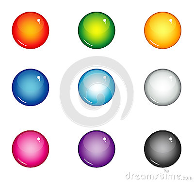 Free Balls Interface Buttons Royalty Free Stock Photos - 43979458