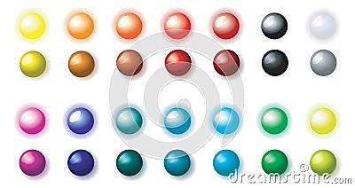 Balls luminous and shaded