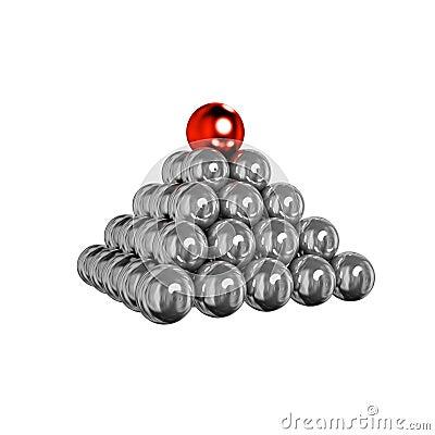 Balls pyramid