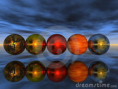 balls reflection