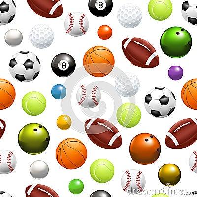 Balls, seamless pattern