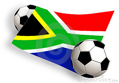 Balls & south africa flag
