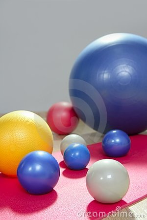 Balls stability and toning pilates sport