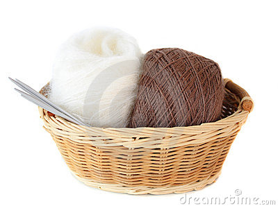 Balls of threads in a basket
