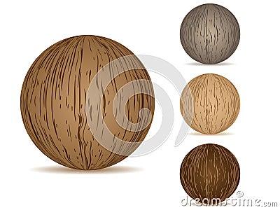 Balls wooden texture