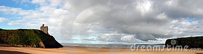 Ballybunion beach panorama