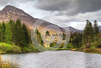 Ballynahinch castle in Connemara mountains