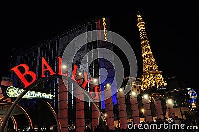 Ballys Hotel and Casino - Las Vegas, USA Editorial Stock Image