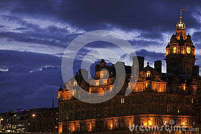 Balmoral hotel. Edinburgh, Scotland