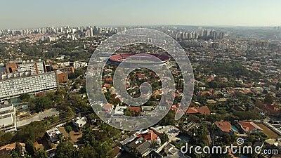 Balompié en todo el mundo Sao Paulo Football Club o estadio o Cicero Pompeu Toledo Stadium de Morumbi almacen de metraje de vídeo
