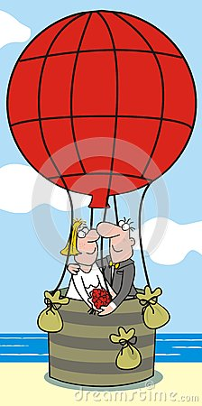 Baloon-bride and groom